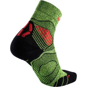 UYN Run Trail Challenge Socken Herren yellow fluo melange/red